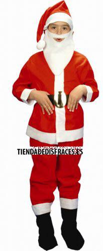Disfraz de Papá Noel infantil con barba 1-3 años, talla 0