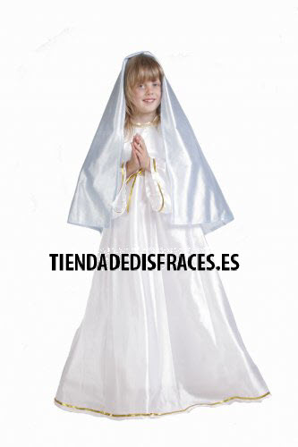 Disfraz de Virgen Mar�a infantil 0-3 a�os, talla 0