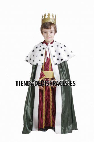 Disfraz de Rey Mago Gaspar infantil 11-13 años, talla 5
