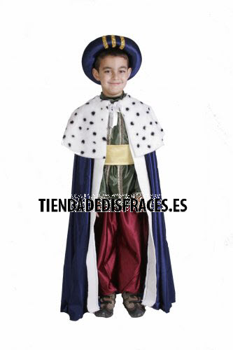 Disfraz de Rey Mago Baltasar infantil 5 a 7 a�os, talla 2