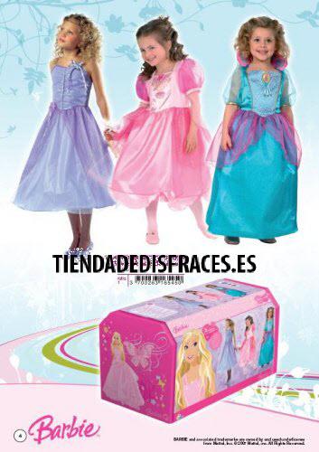 Baúl con 3 disfraces de Princesas