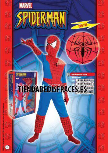 Disfraz de Spiderman con luz