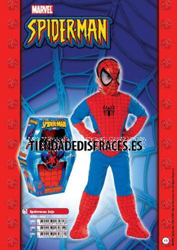 Disfraz de Spiderman lujo