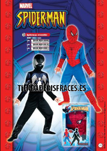 Disfraz de Spiderman Reversible Rojo-Negro
