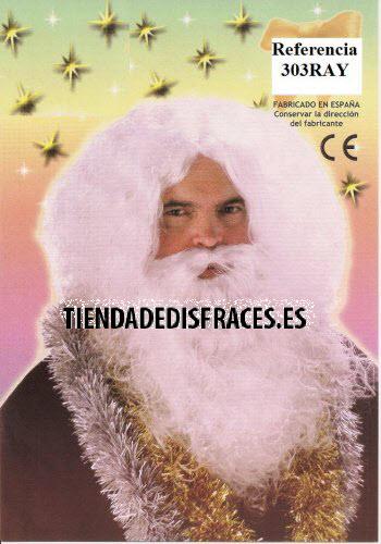 Peluca y Barba Rey Mago Melchor lujo-