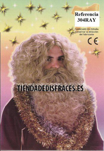 Peluca y Barba Rey Mago Gaspar lujo-