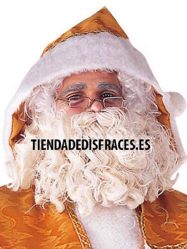 Peluca y Barba Papa Noel deluxe