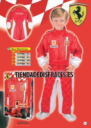 Disfraz de Mono Oficial Ferrari infantil niño