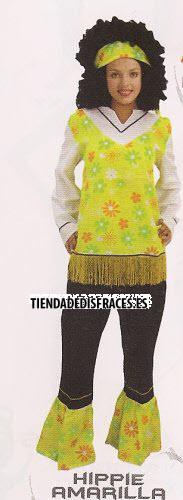 Disfraz de Hippie mujer adulta económico