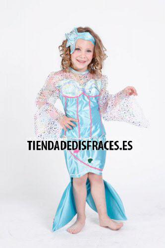 Disfraz de Sirenita infantil bonita