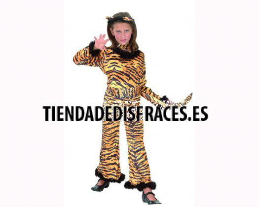 Disfraz de Tigre Salvaje 4-6 Años