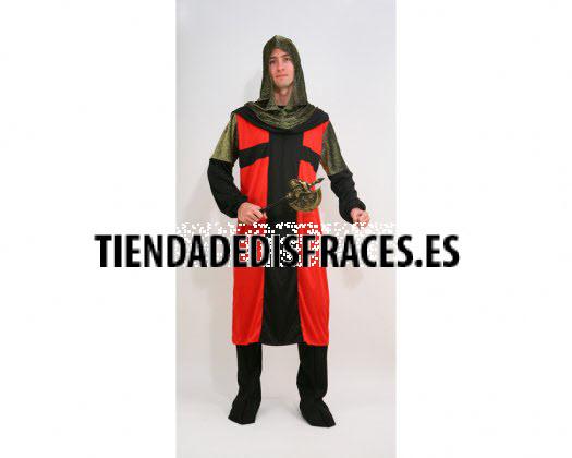 Disfraz de Caballero Medieval Rojo y negro Adulto