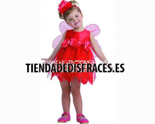 Disfraz de Hada de las Flores Rojo 3-4 años