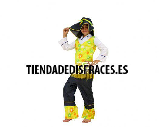 Disfraz de Hippie Amarillo Niña 10-12 Años