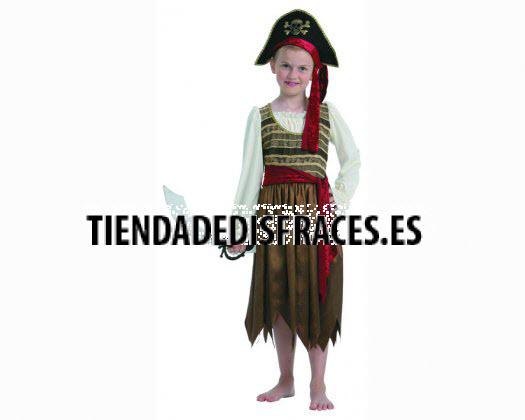 Disfraz de Pirata Amarillo 7-9 años