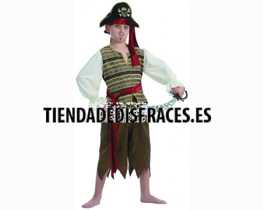 Disfraz de Pirata Temerario 4-6 años