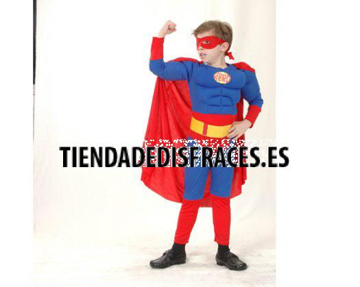 Disfraz de Super Heroe Musculoso Niño 7-9 Años