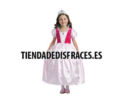 Disfraz de Dulce Princesa Rosa Niña 4-6 Años