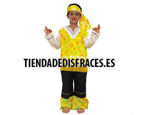 Disfraz de Hippie Amarillo 4-6 Años
