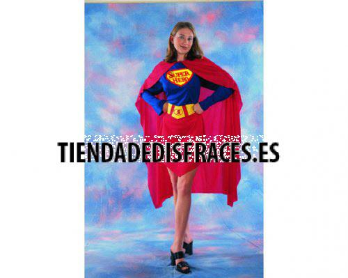 Disfraz de Superwoman mujer económico