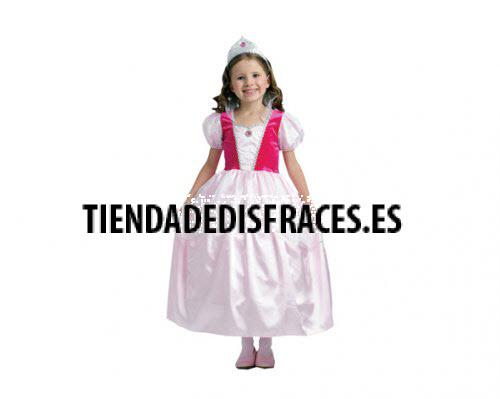 Disfraz de Princesa Rosa niña 7-9 años económico