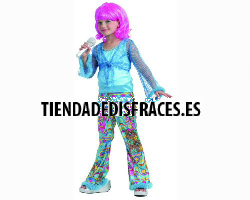 Disfraz de cantante del pop azul Talla 2 (5 – 6 años) años