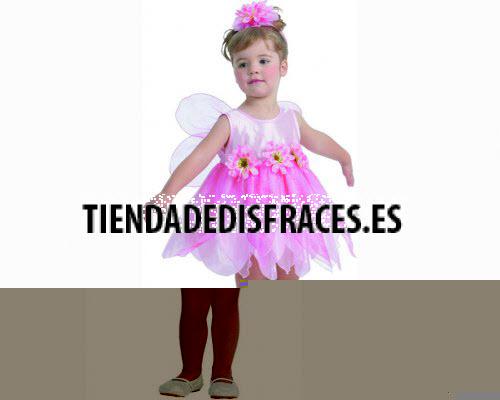 Disfraz de Hada de las flores Rosa 2-4 años económico