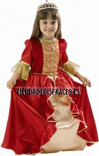 Disfraz de Princesa Bella Roja T-3/4 Años