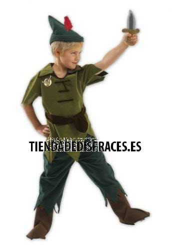 Disfraz de Peter Pan T-5/6 Años
