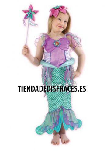 Disfraz de Sirenita T-3/4 Años