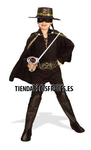 Disfraz de Zorro En Caja Lujo T-5-7 Años