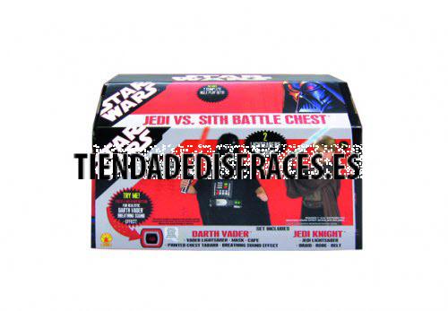 Cofre Star Wars (Darth Vader y caballero jedi + Accesorios)