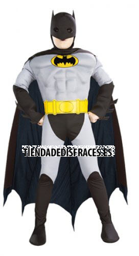 Disfraz de Batman Musculoso En Caja T-8-10 Años