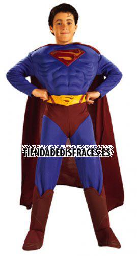 Disfraz de Superman Musculoso En Caja T-8-10 Años