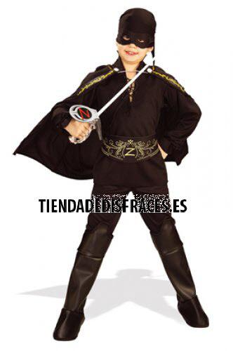 Disfraz de El Zorro En Caja C/Acc. T-5-7 Años