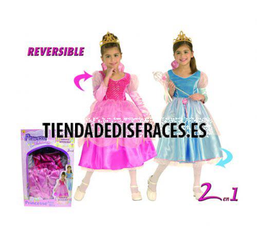 Princesa Encantada Reversible Rosa/Azul 2 en 1 T-3-4 Años