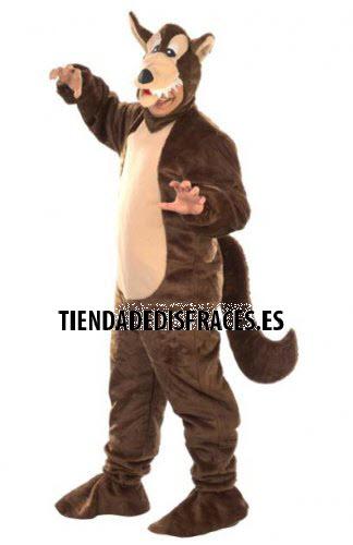 Disfraz de Lobo marrón chico adulto talla 50