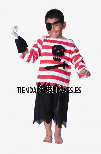 Disfraz de Pirata Garfio infantil 1 a 3 años, talla 0