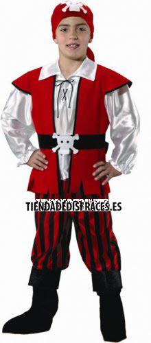 Disfraz de Pirata niño infantil talla 3 a 5 años, talla 1