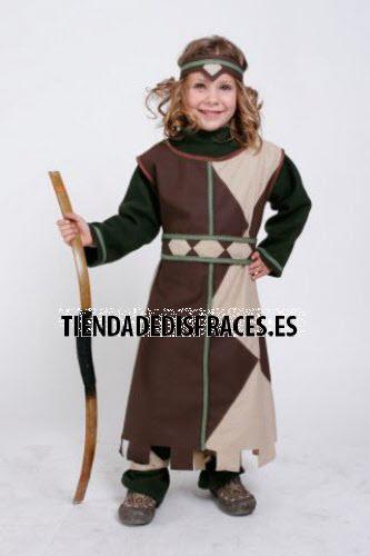 Disfraz de Arquera infantil 5 a 7 años talla 2