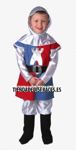 Disfraz de Guerrero infantil talla 3 a 5 años, talla 1