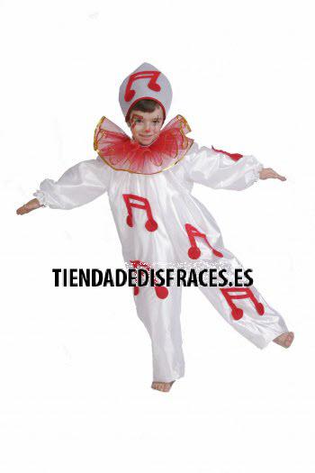 Disfraz de Pierrot infantil talla 0 a 3 años, talla 0