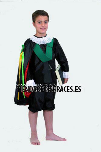 Disfraz de Tuno Infantil talla 3 a 5 años, talla 1