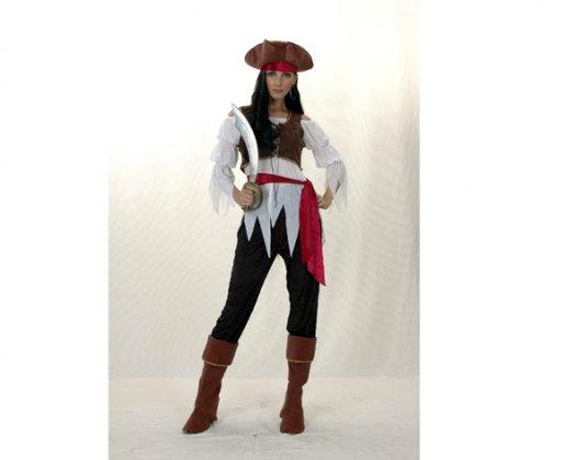 Disfraz de Mujer Pirata Caribeña Económico Adulto