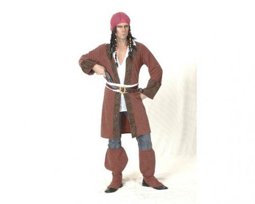 Disfraz de Pirata Caribeño Adulto Económico