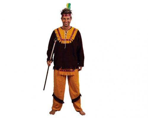 Disfraz de Indio Marrón Adulto Económico