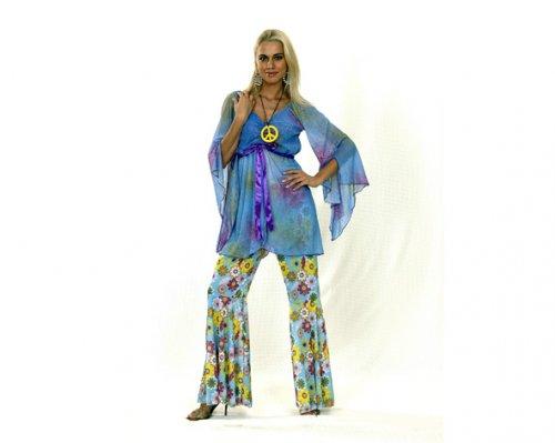 Disfraz de Hippie Mujer Adulto Económico