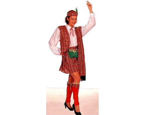 Disfraz de escocesa mujer adulto