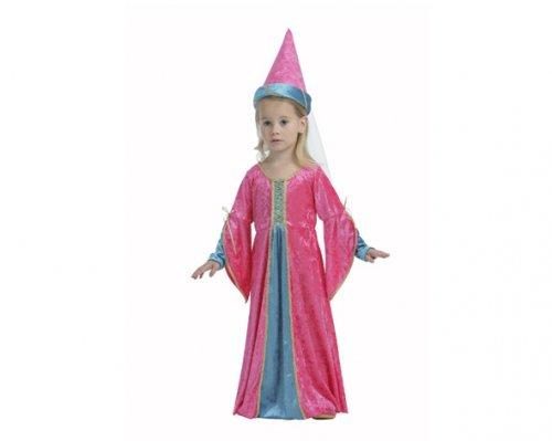 Disfraz de Princesa Rosa 2-4 años económico