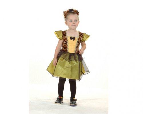 Disfraz de Princesa Tigre 2-4 años económico